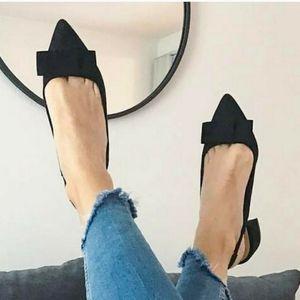 Zara pointy slingbacks